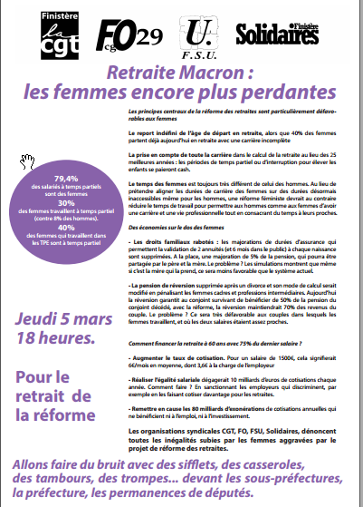 tract unitaire appel Finis 5 mars